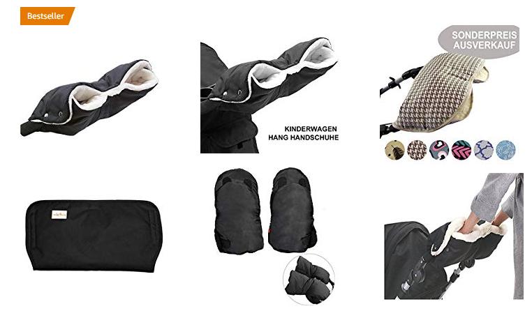 Handwärmer & Handschuhe für Buggy & Kinderwagen