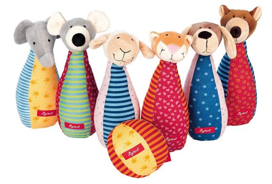 Sigikid Kegelspiel mit 6 Tierfiguren für Mädchen und Jungen