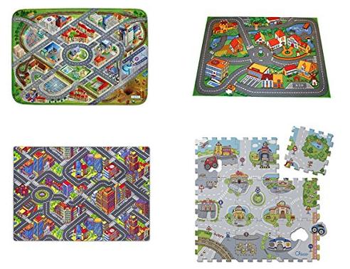 Spielteppiche mit Straßenprint & Stadtaufdruck bei Amazon