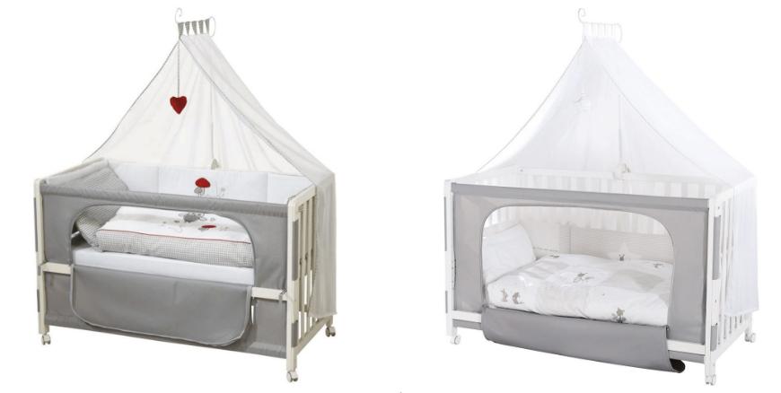 Babybett ans Bett schieben