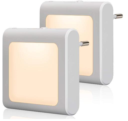 2 nachtlichter mit d mmerungssensor f r steckdosen g nstig aber gut. Black Bedroom Furniture Sets. Home Design Ideas
