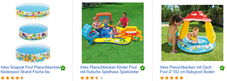 ebay.de-Screenshot zu Intex Planschbecken