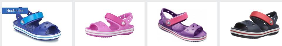 idealo-Screenshot zu Crocs Crocband Sandal Kids